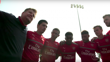 James Corden Takes Over as Coach of Arsenal