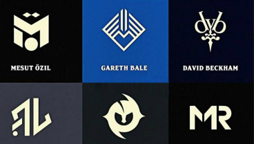 Famous Footballers' Brand Logos