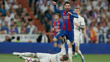 Watch All The Times Sergio Ramos Brutally Tackled Lionel Messi
