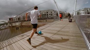 The Great Urban Soccer Race