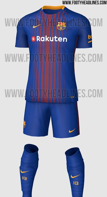 new style c797b b7d3f Barcelona 2017-18 Home Kit Leaked