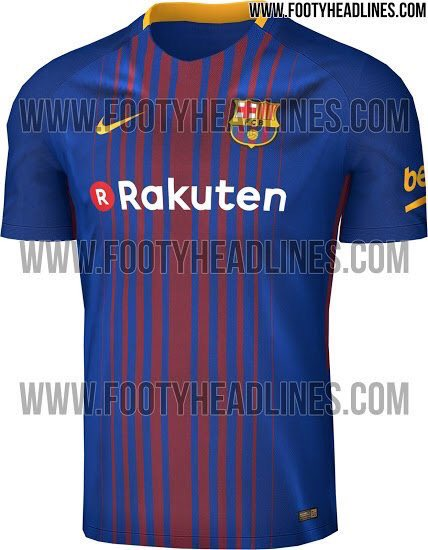 Barcelona 2017-18 home kit