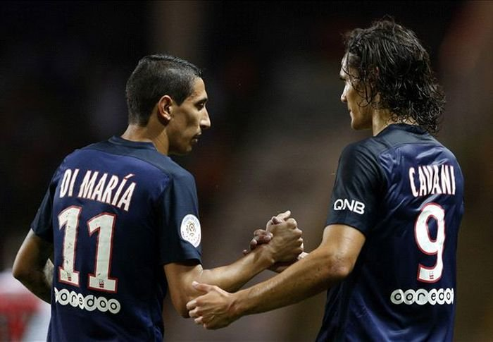 Angel Di Maria and Edinson Cavani