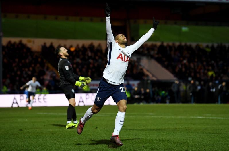 Lucas Moura Tottenham Debut In FA Cup Vs. Rochdale