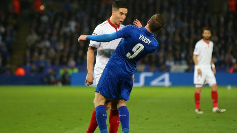 Samir Nasri and Jamie Vardy