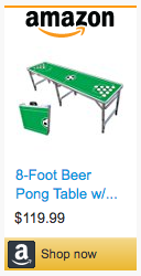 Last Minute Soccer Gifts Amazon Prime - Soccer Beer Pong Table
