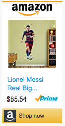 Last Minute Soccer Gifts Amazon Prime - Messi Fathead