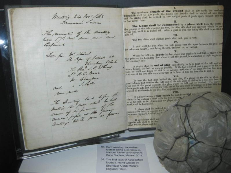 Original Rules of Football, FIFA, 1863