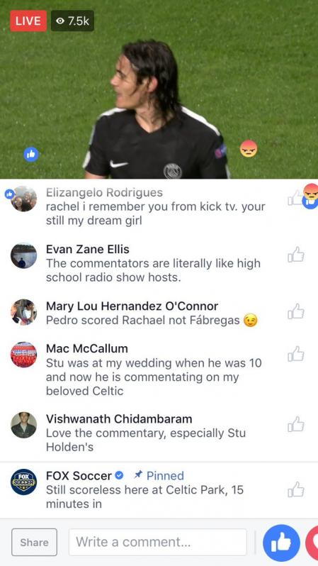 Champions League Facebook stream