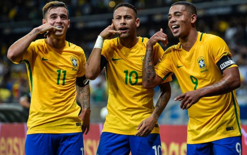 Football: Neymar converts one penalty, misses another in Brazil stroll