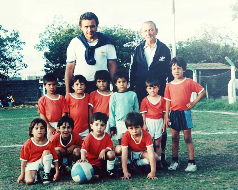 Messi with his boyhood club, Newell's Old Boys