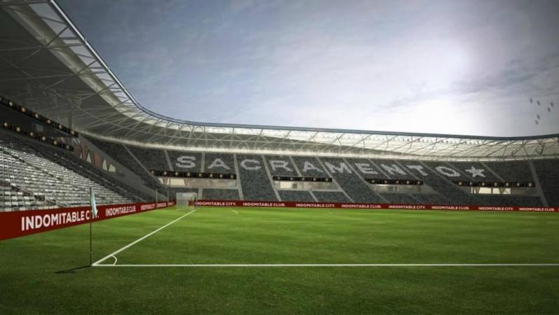 A rendering of the new Sacramento Republic FC stadium interior, should the MLS expansion move forward