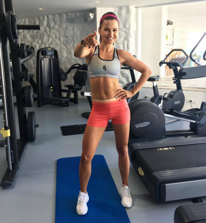 Anna Lewandowski at the gym