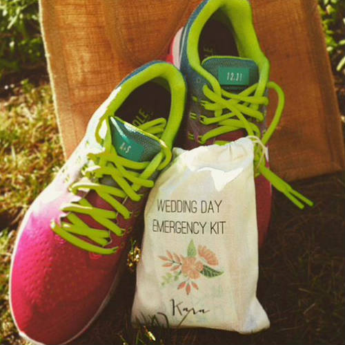 Party favors (Nikes) from the Alex Morgan and Servando Carrasco Wedding