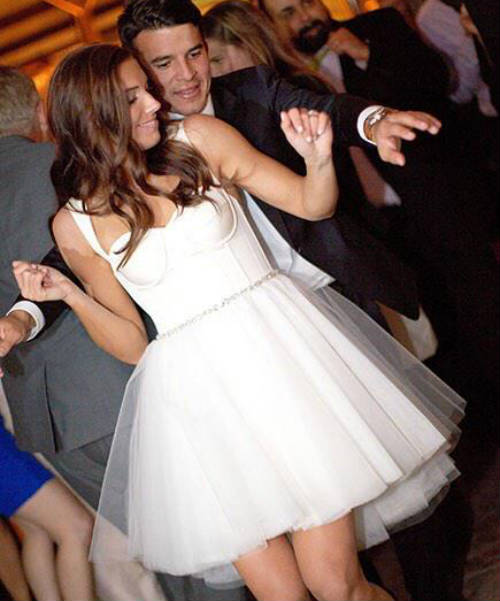 Alex Morgan and Servando Carrasco Dancing