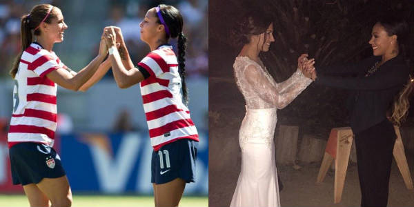 Alex Morgan and Sydney Leroux - on the pitch and at the wedding