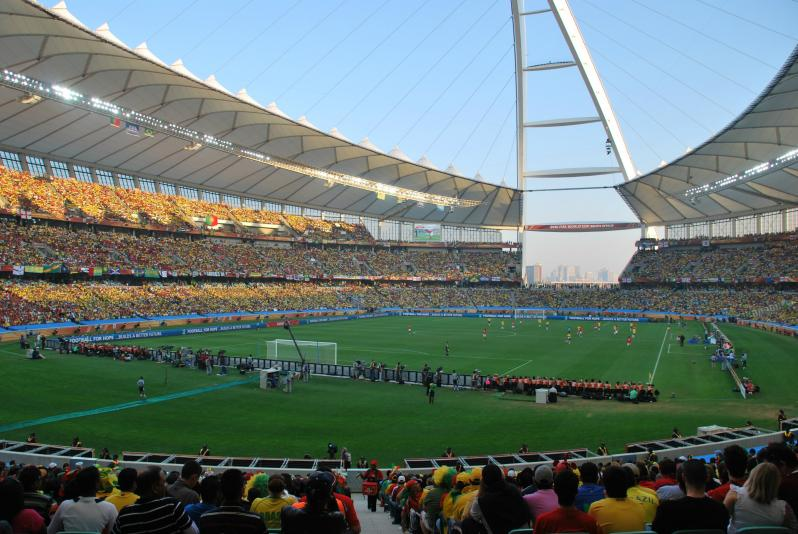 pictures of amazing stadiums, moses mabhida crowd