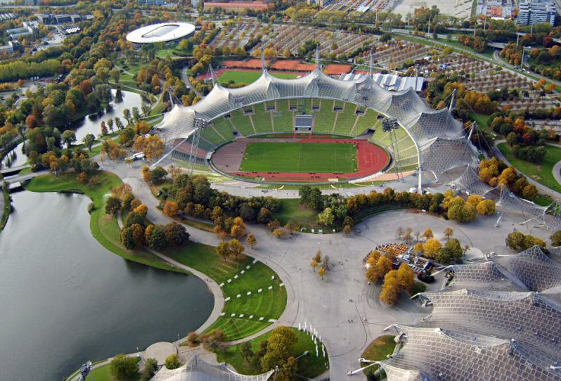 pictures of amazing stadiums, olympiastadion muenchen arial