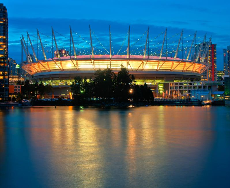 pictures of amazing stadiums, BC place river