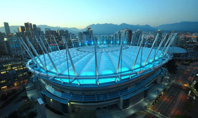 pictures of amazing stadiums, BC place skyline