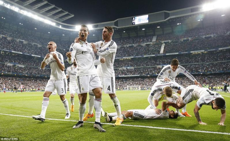 pictures of amazing stadiums, bernabeu celebration