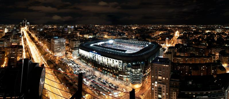 pictures of amazing stadiums, Bernabeu night