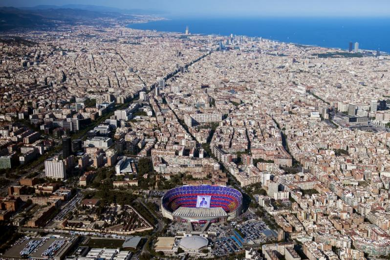 pictures of amazing stadiums, camp nou arial