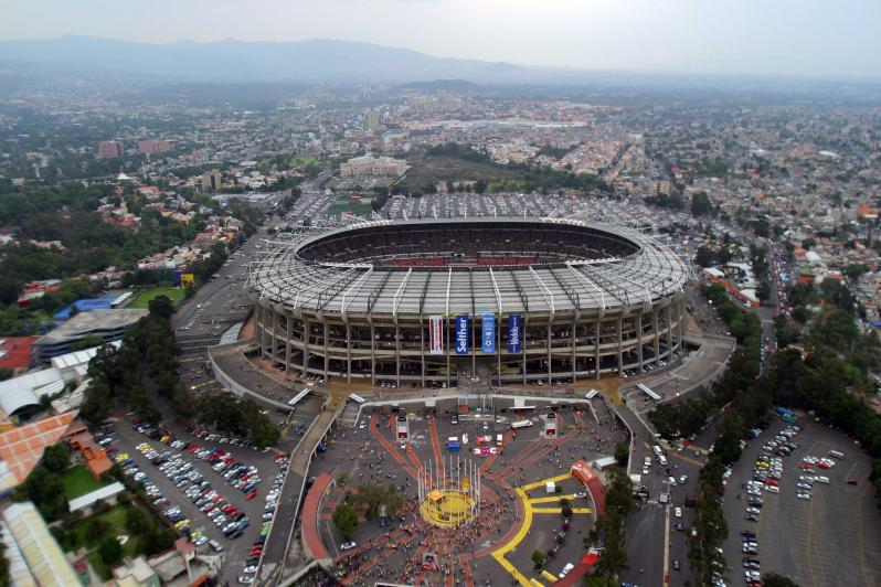 pictures of amazing stadiums, estadio azteca arial
