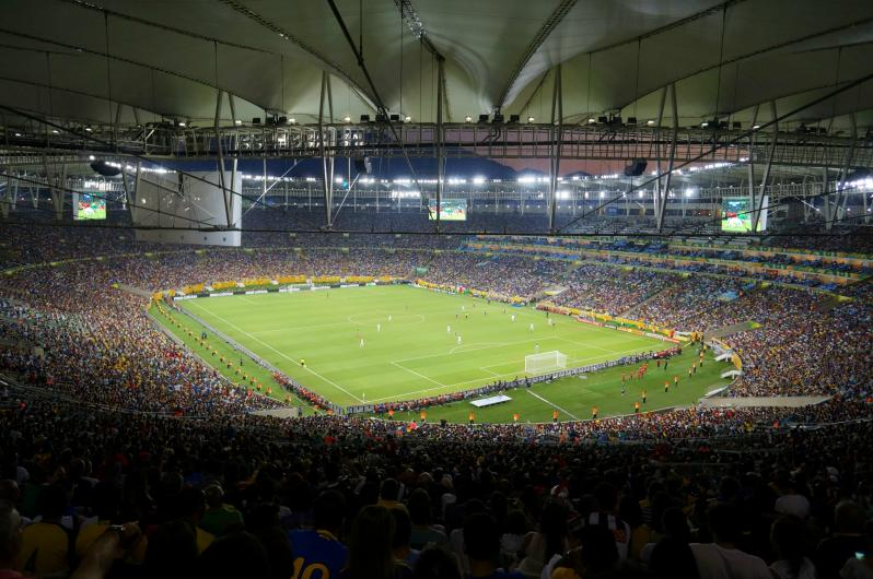 pictures of amazing stadiums, maracana inside night