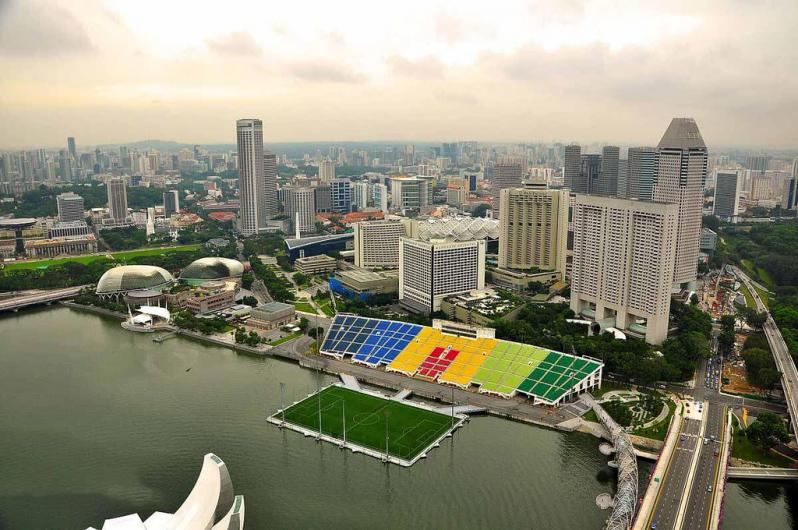 pictures of amazing stadiums, marina bay arial