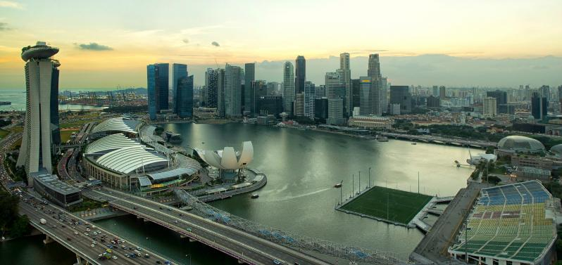pictures of amazing stadiums, marina bay skyline