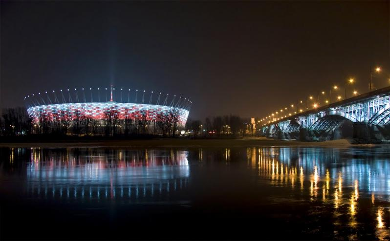 pictures of amazing stadiums, national stadium night