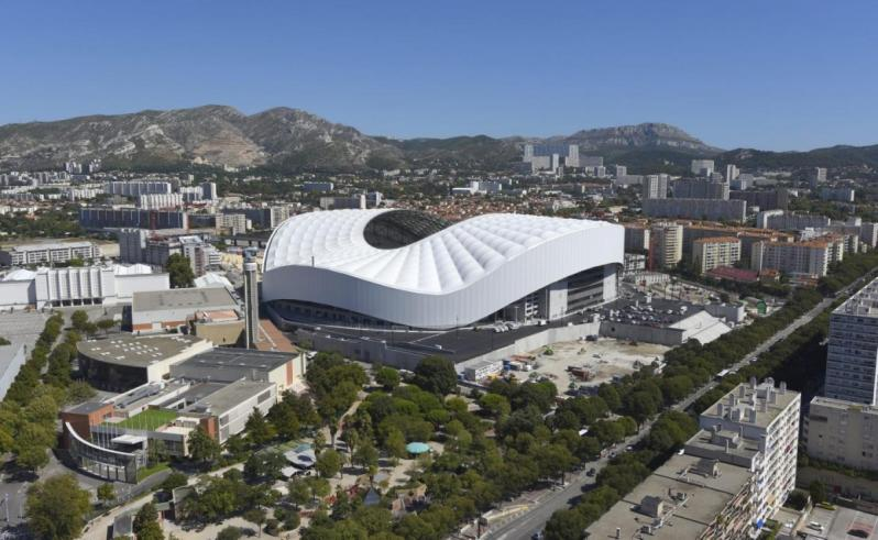 pictures of amazing stadiums, stade velodrome arial
