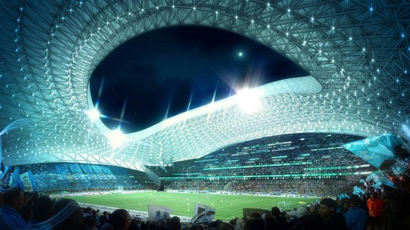 pictures of amazing stadiums, stade velodrome blue inside