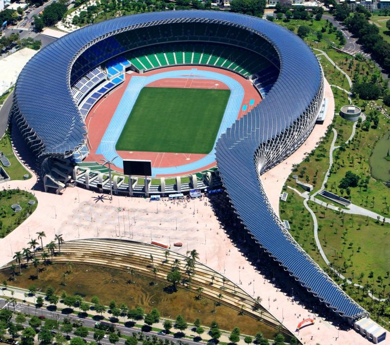 pictures of amazing stadiums, taiwan national stadium full arial