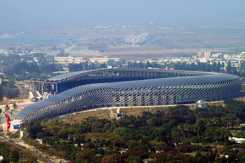 pictures of amazing stadiums, taiwan national stadium side arial
