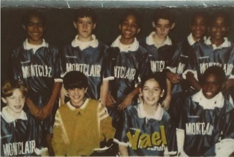 Yael Averbuch with her all boys team.