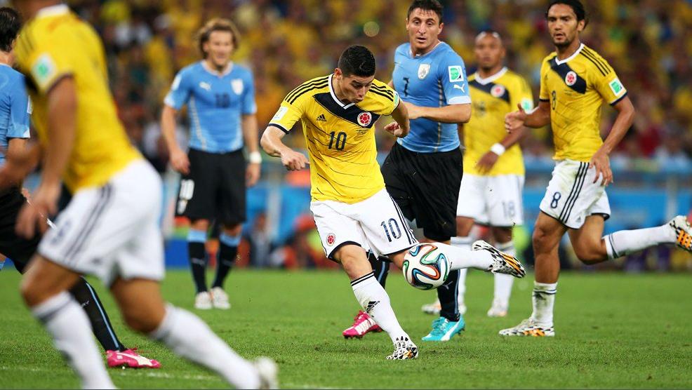 James Rodriguez goal vs Uruguay